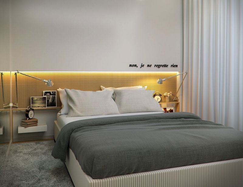 Kleines Schlafzimmer   Indirekte Beleuchtung In Der Wand