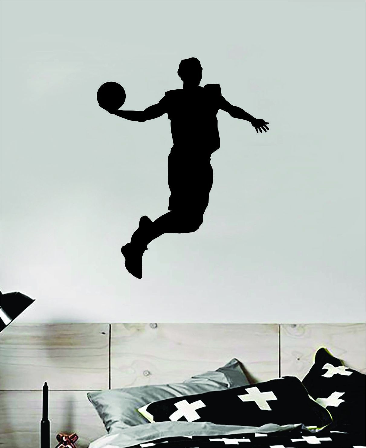 Basketball Dunk V5 Wall Decal Quote Vinyl Sticker Decor Bedroom Room Teen Kids Sports NBA Hoops - teal