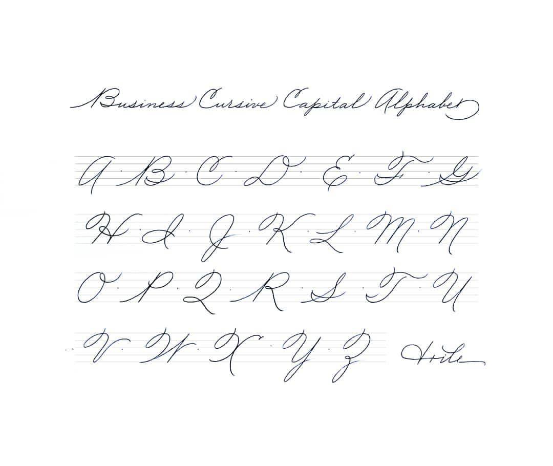 Business Cursive Capital Alphabet Calligraphymasters