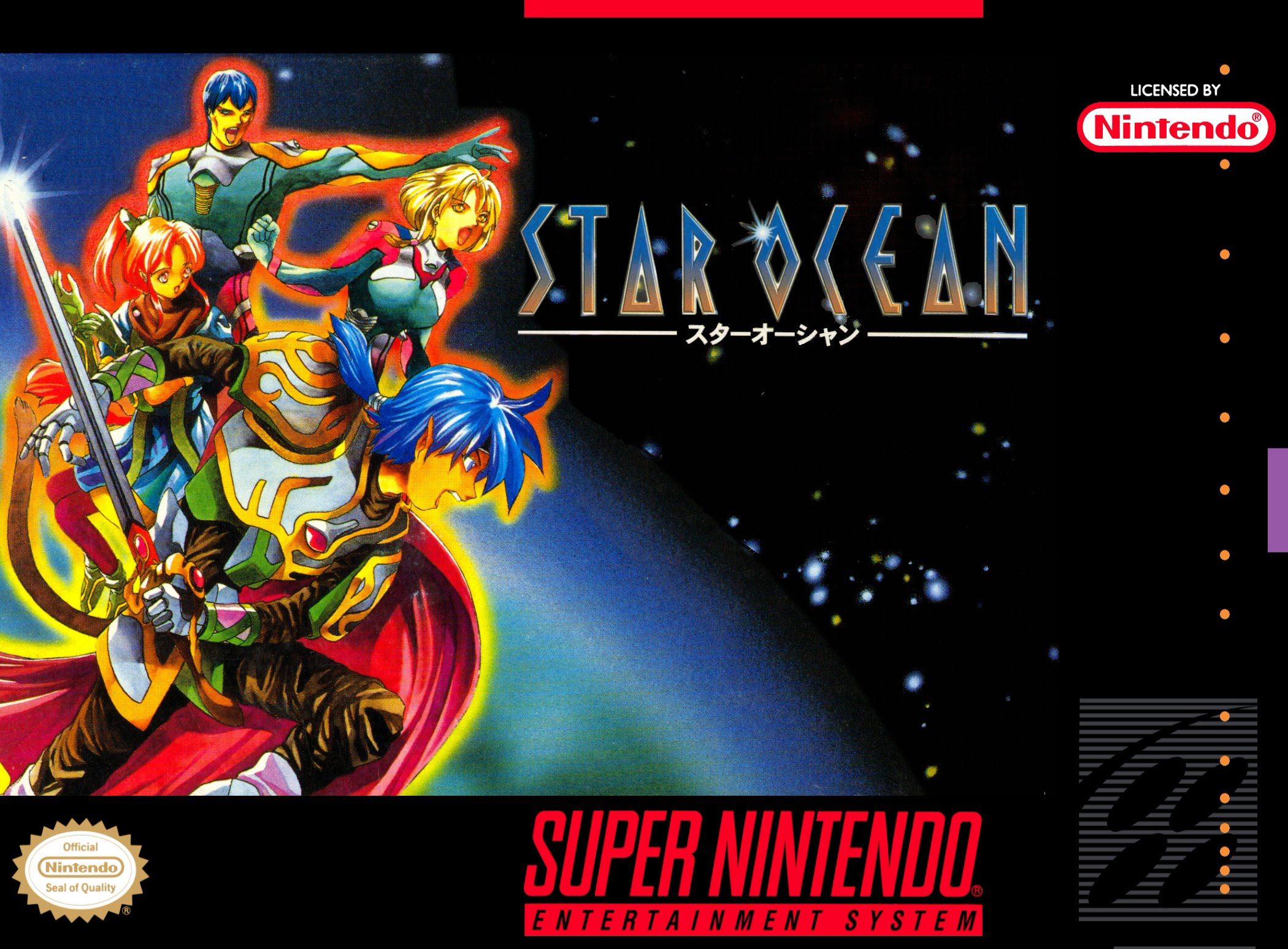 Star Ocean Snes Super Nintendo Entertainment system (super