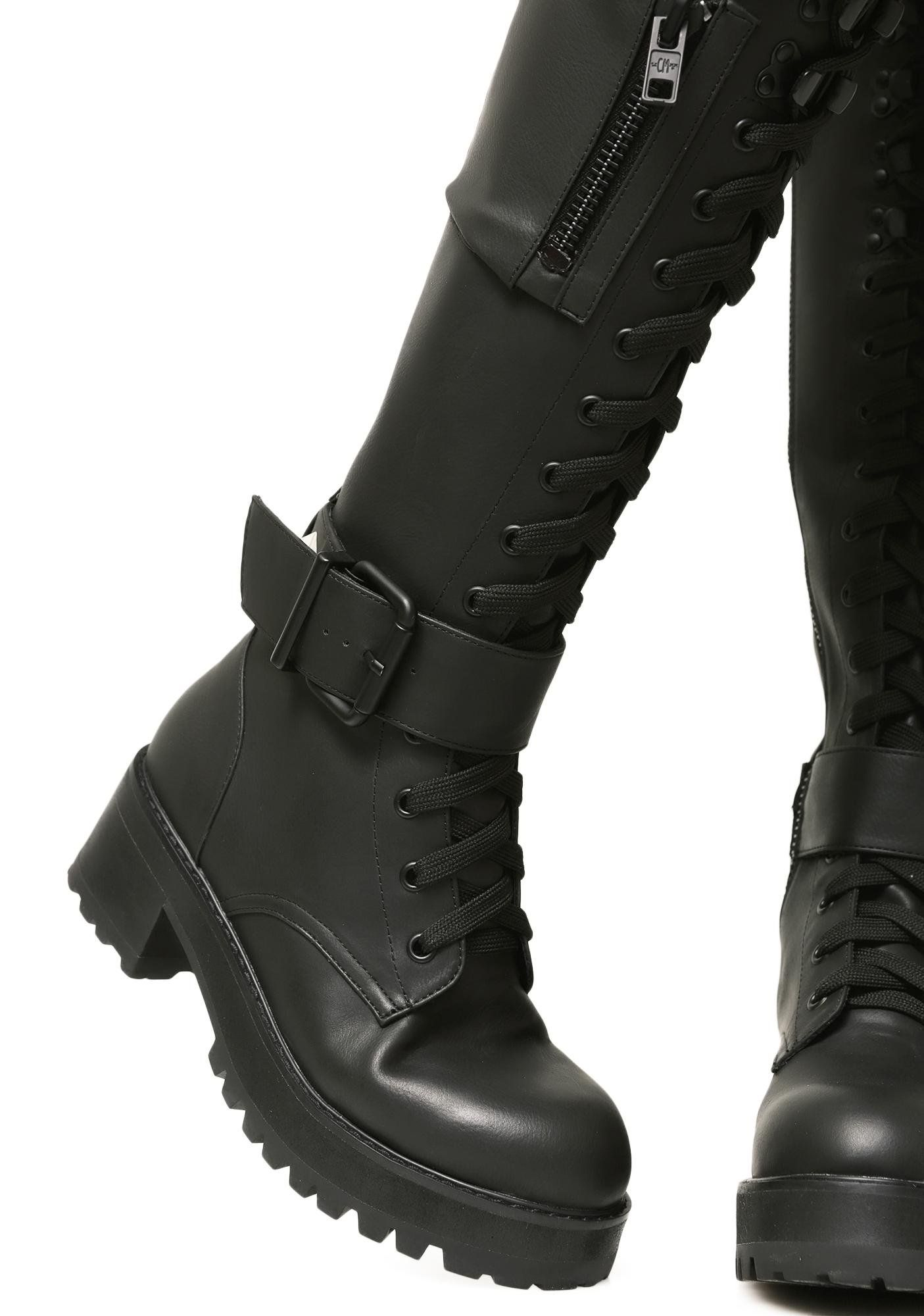a63f22c28 Current Mood Obsidian Pocket Combat Boots