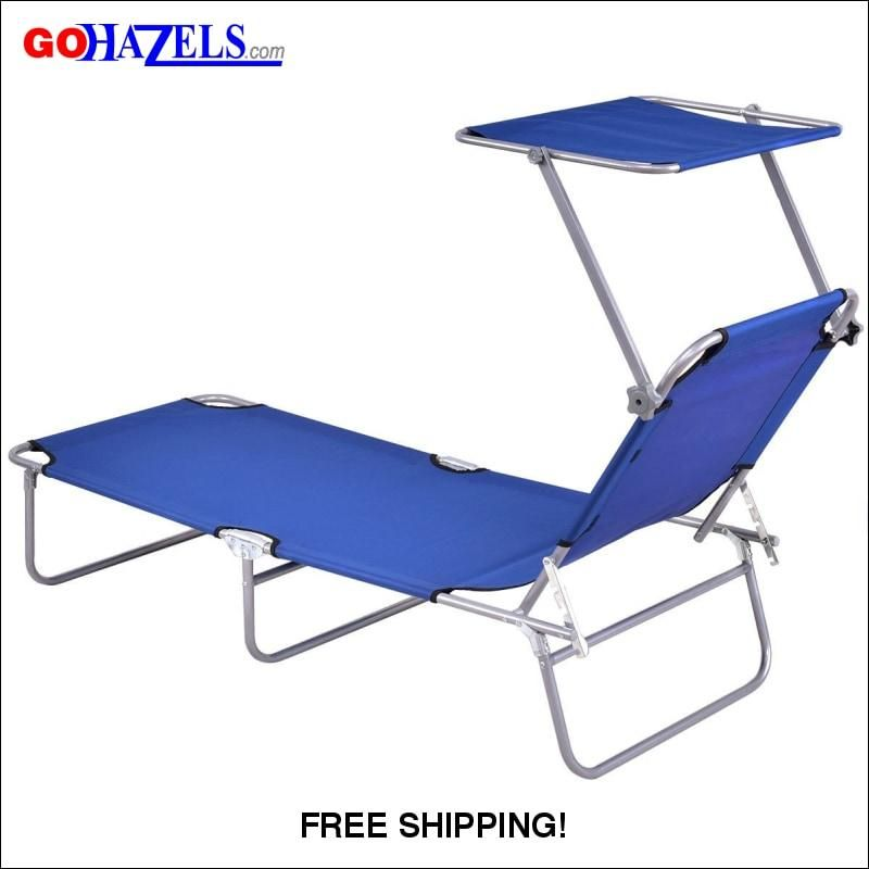 Relaxing Foldable Lounge Canopy Beach Chair Gohazels Com Beach