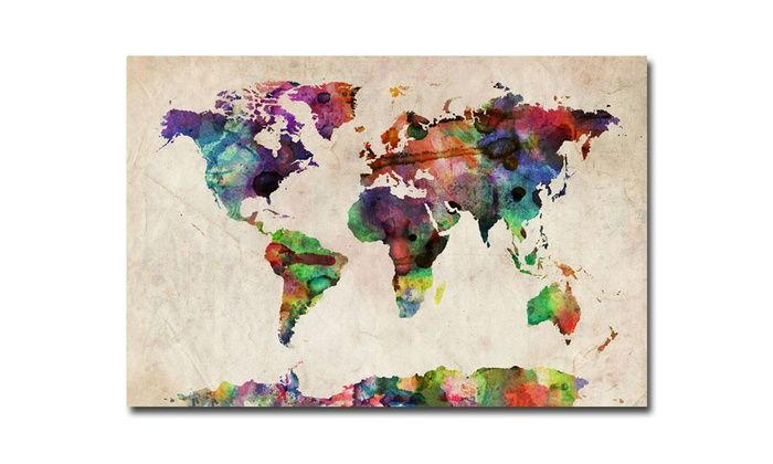 24x18 michael tompsett maps on canvas deal of the day groupon compare 2472 world map watercolor products at shop including world map watercolor canvas art sundance studio x world map watercolor canvas art sd gumiabroncs Choice Image