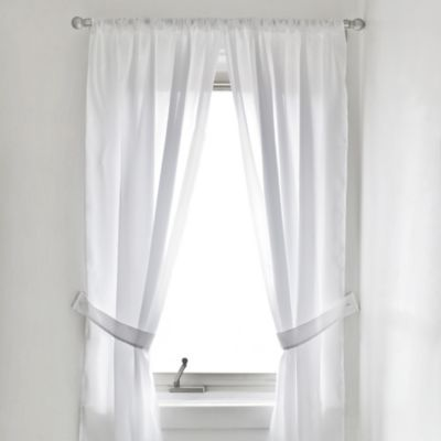 Buy Vinyl Bathroom Window Curtain In White From Bed Bath Beyond
