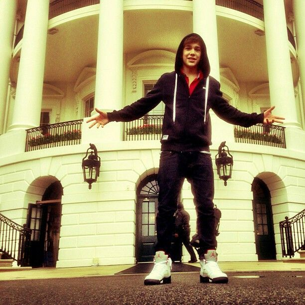 Austin In Front Of The White House