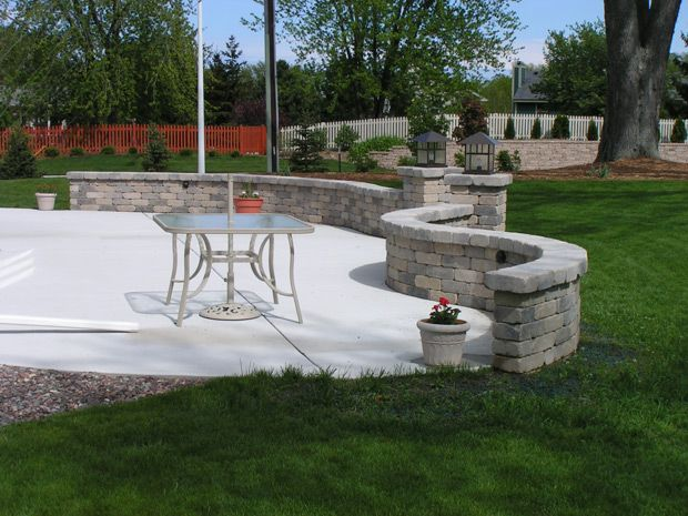 Curved Knee Wall Home Ideas Patio Wall Outdoor Decor