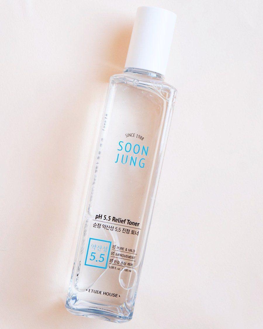 Etude House Soonjung Ph 5 5 Relief Toner Simple Skincare Natural Skin Care Skin Care