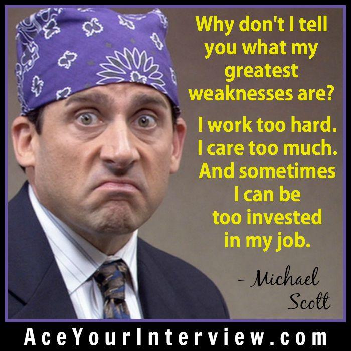 michaelscott  job  interview  quote
