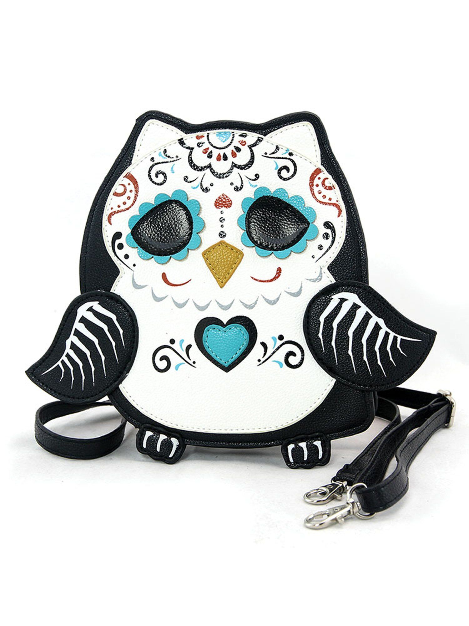 e7f0c6fa5 Sleepyville Critters Sugar Owl Sugar Skull Day Crossbody Bag Purse ...