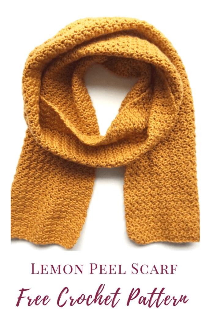 Free Scarf Crochet Pattern - Lemon Peel Stitch - Burgundy and Blush