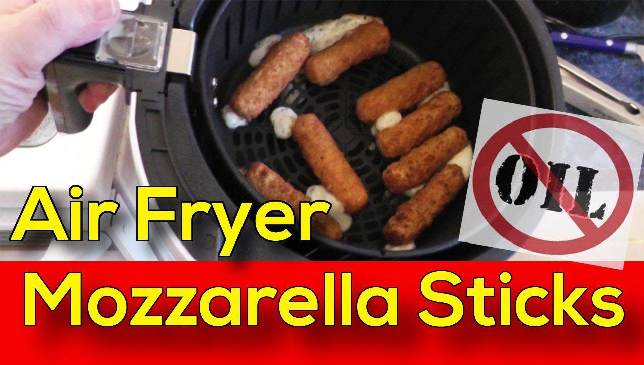Air Fryer Mozzarella Sticks NO Oil Added Air fryer