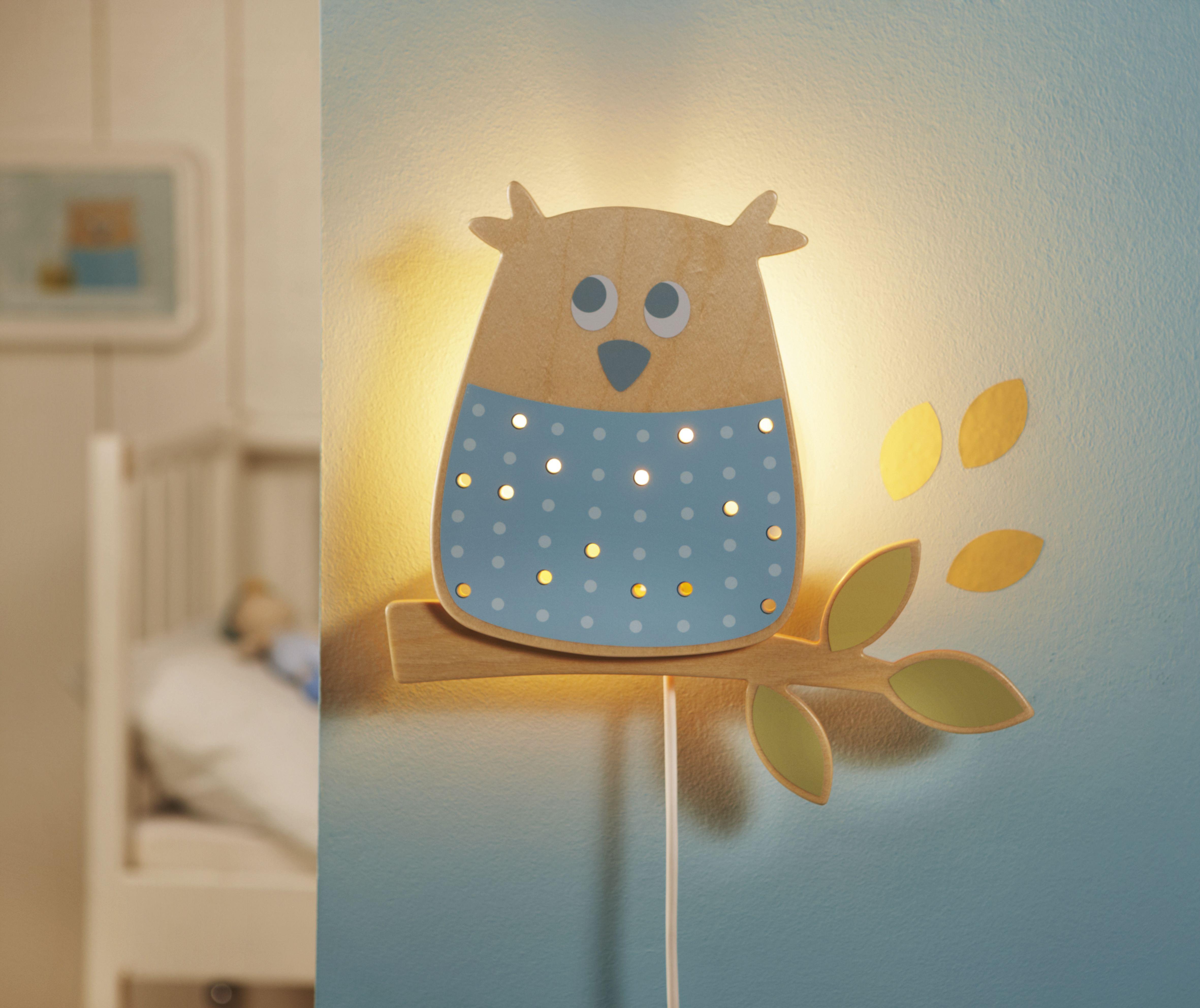 Schlummerlicht waldeule die schlaue waldeule kommt aus dem traumwald angeflattert und - Wandlampe babyzimmer ...