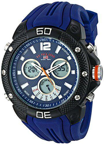 69895dfb77b U.S. Polo Assn. Sport Men s US9496 Analog-Digital Display Analog Quartz  Blue Watch. Relógios Do HomemRelógios ...