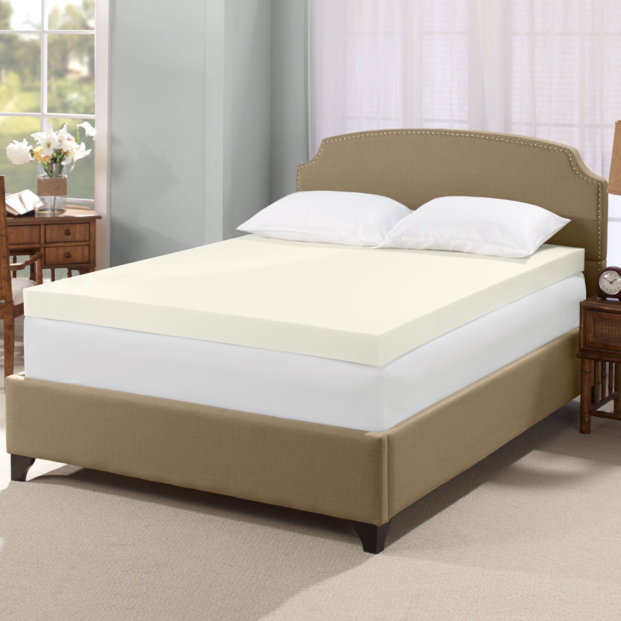 Enjoy A Restful Night S Sleep With This Hypoallergenic Antibacterial Memory Foa Memory Foam Mattress Topper Mattress Topper