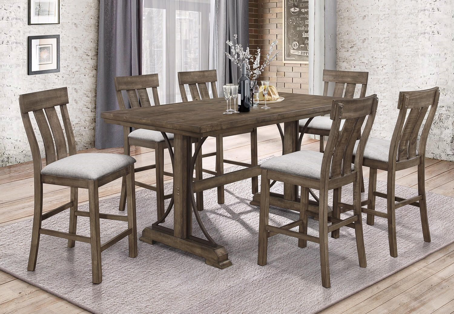 2831 5pc Quincy Counter Height Dining Set Counter Height Dining