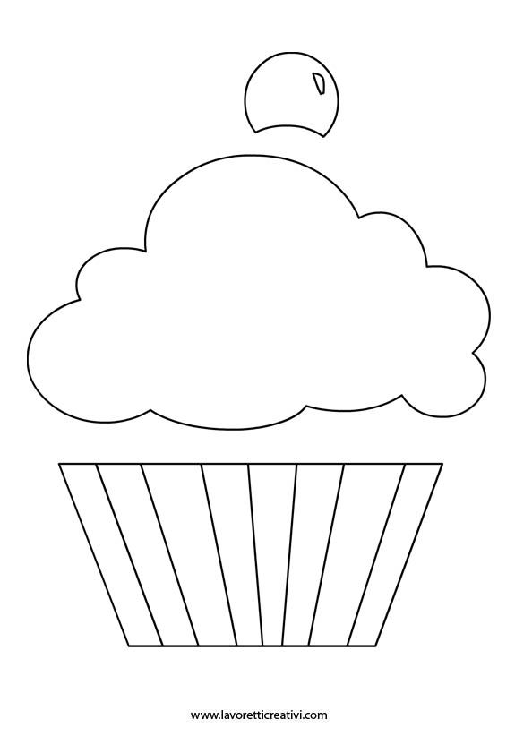 Про, открытка кекс шаблон