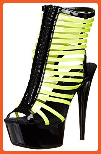 The Highest Heel Womens Glow-131 6 Inch Platform Sandal