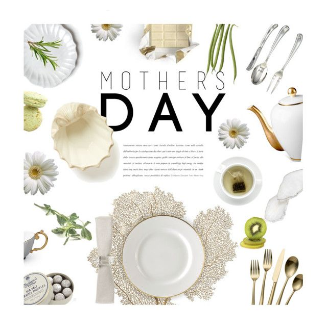 """Mother's Day Brunch"" by magdafunk ❤ liked on Polyvore featuring interior, interiors, interior design, home, home decor, interior decorating, RabLabs, Towle, Charbonnel et Walker and 10 Strawberry Street"