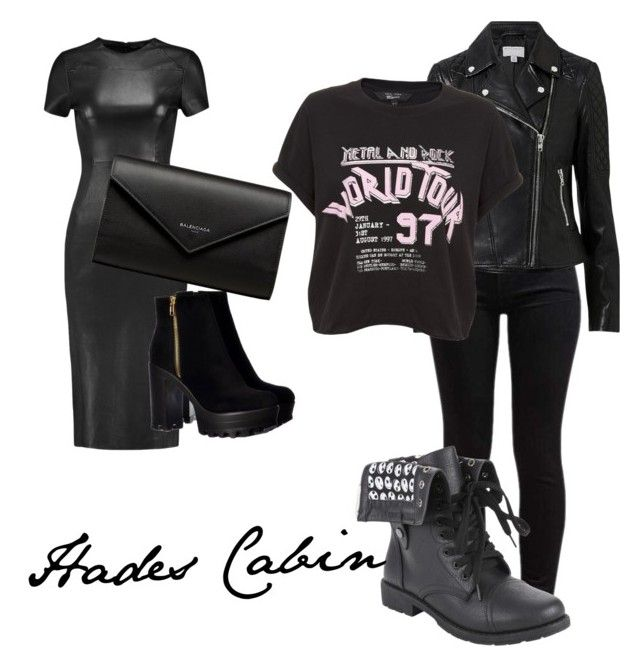 """Hades Cabin"" by sicestero on Polyvore featuring 7 For All Mankind, Witchery, Iris & Ink and Balenciaga"