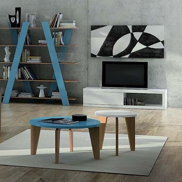 ATOLL, TV bord med en skyvedør - effektiv enkelhet. - Designet av Delio VICENTE