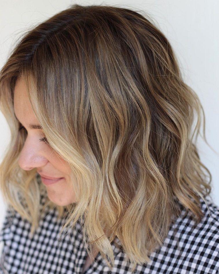 Natural blonde balayage idea