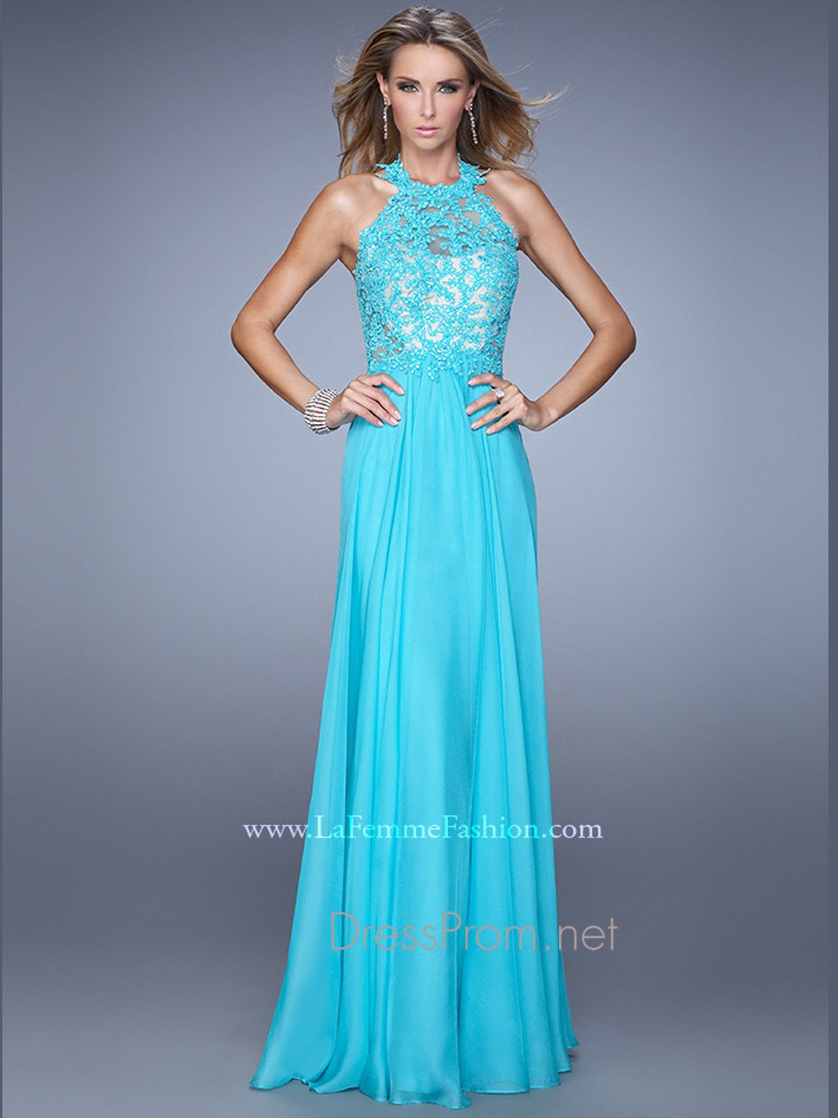 Steal the spotlight when donning this sophisticated prom design from