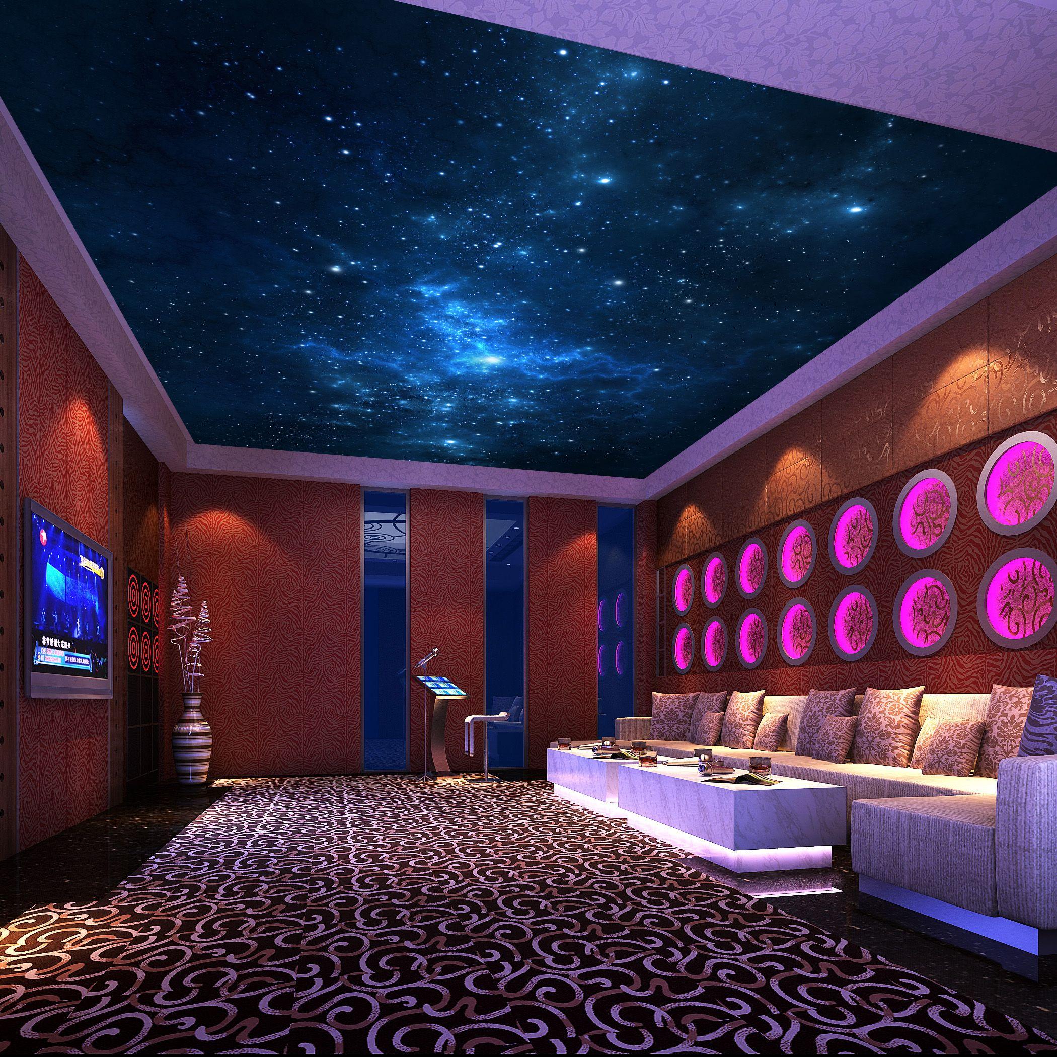 The stars in the night sky mural wallpaper ktv ceiling
