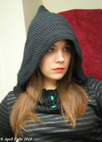 Free Pattern April Draven Dark Wizard Hood Crochet Adult Hats