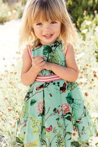 Buy Blue Floral Print Prom Dress 3mths 6yrs Online Today At Next