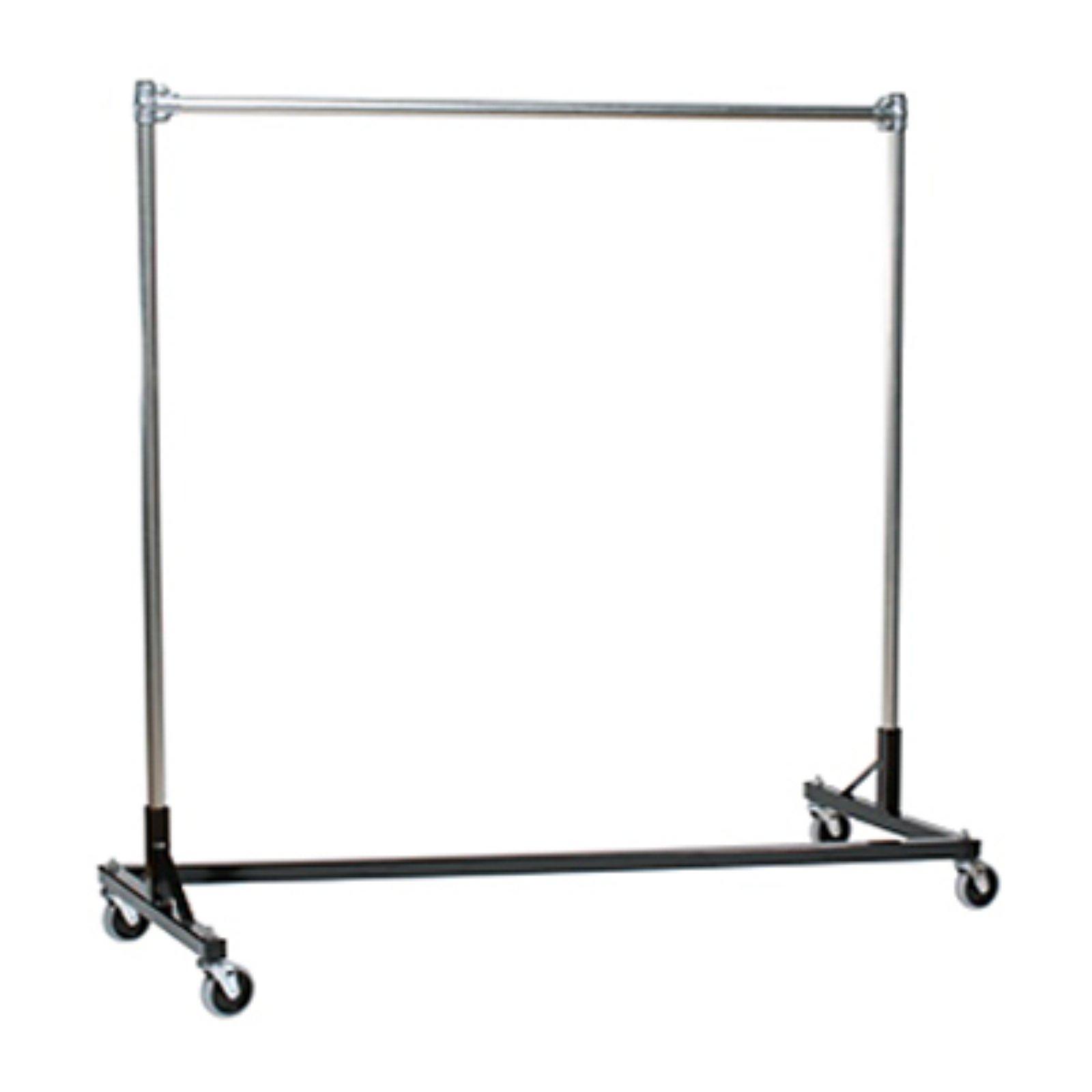 Heavy Duty Steel 500 Lb Capacity 4 Foot Long Z Rolling Rack Silver Garment Racks Metal Clothes Rack Rolling Rack