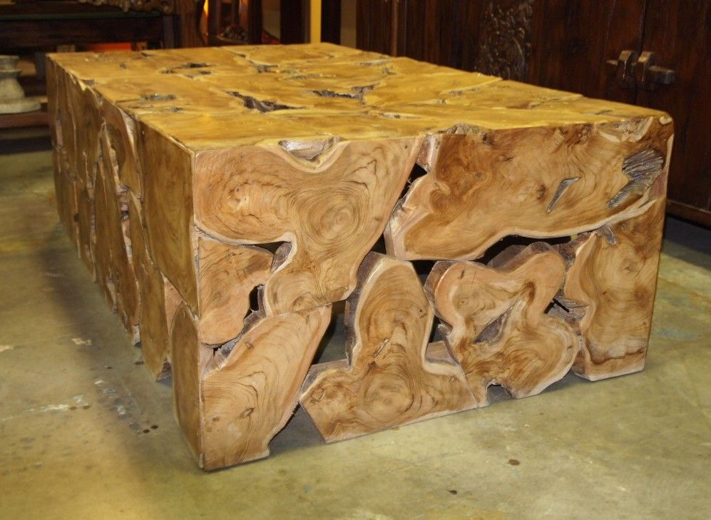 Gorgeous Teak Burl Mosaic Coffee Table Handcrafted In Indonesia By Village  Artisans. Visit Gado Gado