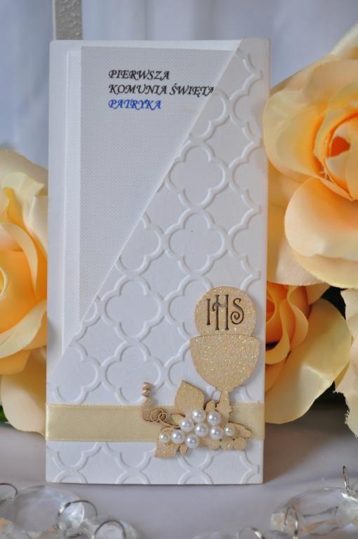 Zaproszenia Komunijne Na Pierwsza Komunie Sw 5104256818 Oficjalne Archiwum Allegro Baptism Cards Cards Handmade Christmas Journal