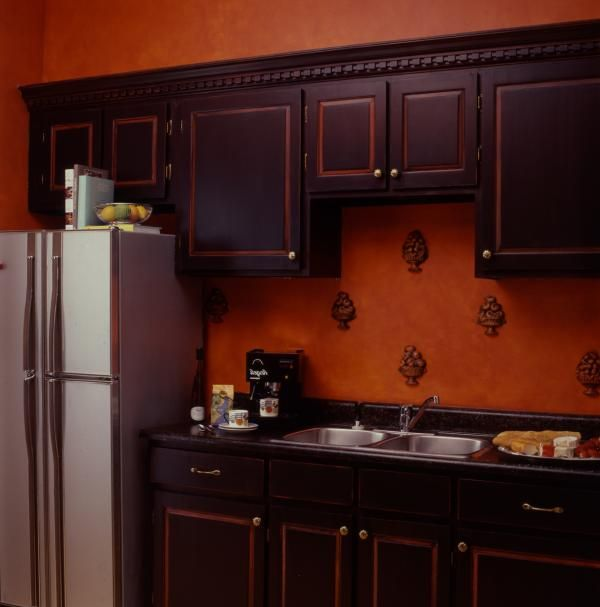 Old Wood Cabinets - Old wood cabinets are painted with an ...
