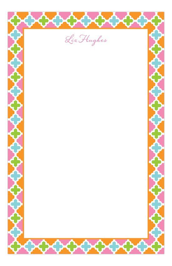 Preppy Notepad Preppy Notepad Note Pad Polka Dot Design