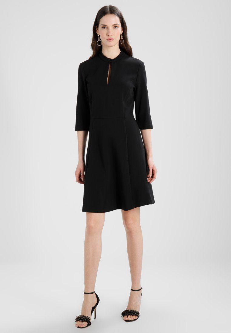 da1288e9ab61c5 Benetton CONTRAST COLLAR KEYHOLE BUSINESS DRESS - Korte jurk - black -  Zalando.be