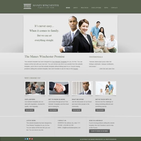 Business Website Templates Psd Free Creative With Regard To 23030