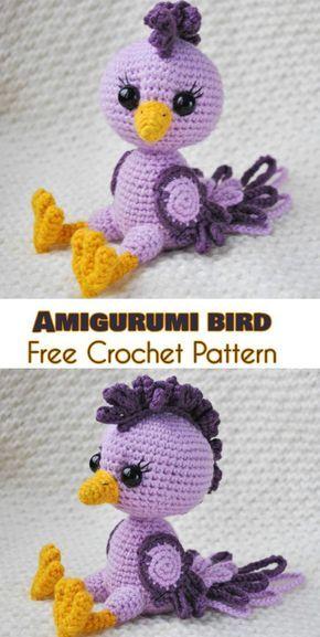 Amigurumi Bird - Free Crochet Pattern | Blumen aus Knöpfen, Häkeln ...