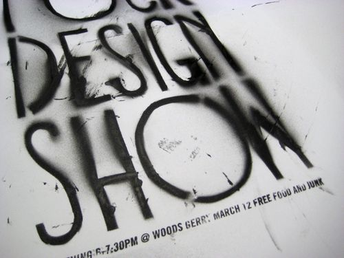 Graphic Design Show Poster by Jacqueline Frole, via Behance