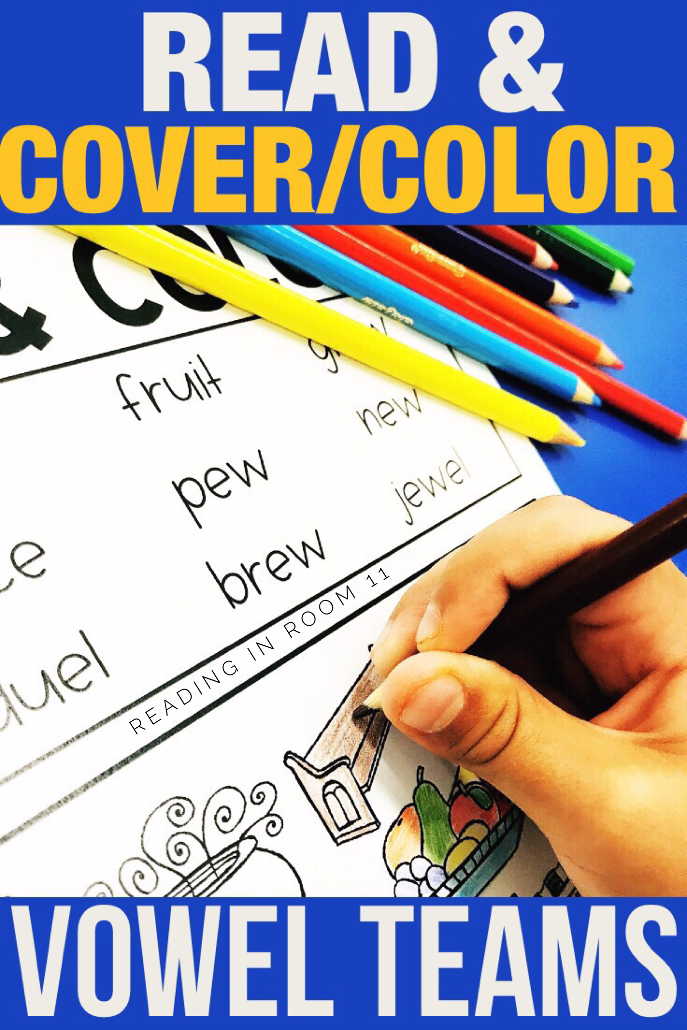 These Vowel Team Mix Read And Color Cover Worksheets Are