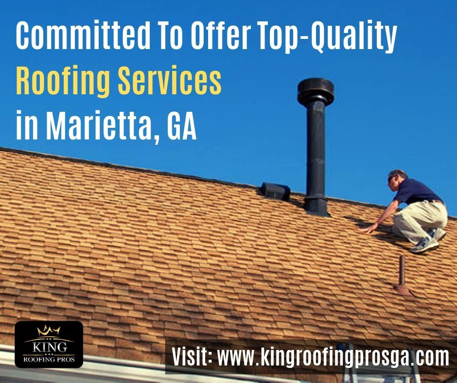Looking For A Roofing Contractor Contact King Roofing Pros Llc For All Roofing Repair Or Replacement Services In Mariett Roofing Services Roof Repair Roofing