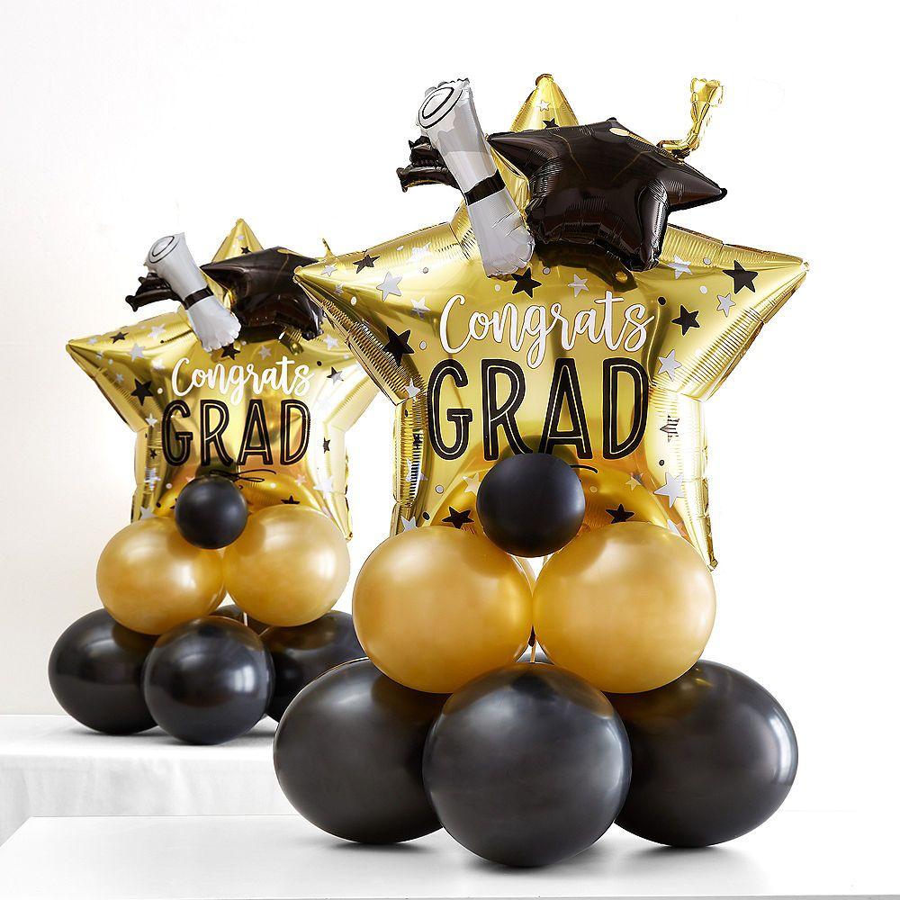 AirFilled Graduation Star Balloon Centerpiece Kit