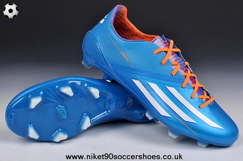 (Blue White Orange) TRX FG Adidas F50 AdiZero 2014 Soccer Cleats Just got  these