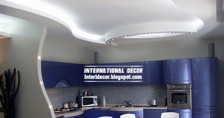 Kitchen Gypsum Ceiling Design. contemporary gypsum false ceiling design for kitchen with lights