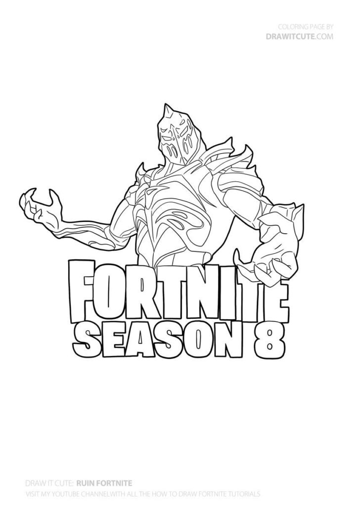 Pin By Joao Vitor Castro On Fortnite Cute Coloring Pages Fortnite Draw