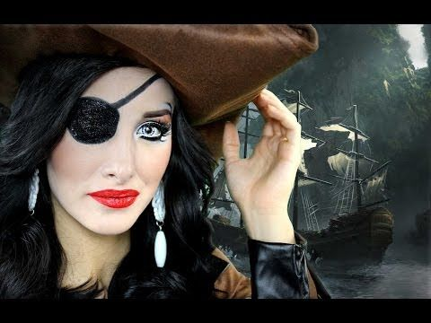 sexy pirate halloween makeup tutorial youtube. Black Bedroom Furniture Sets. Home Design Ideas