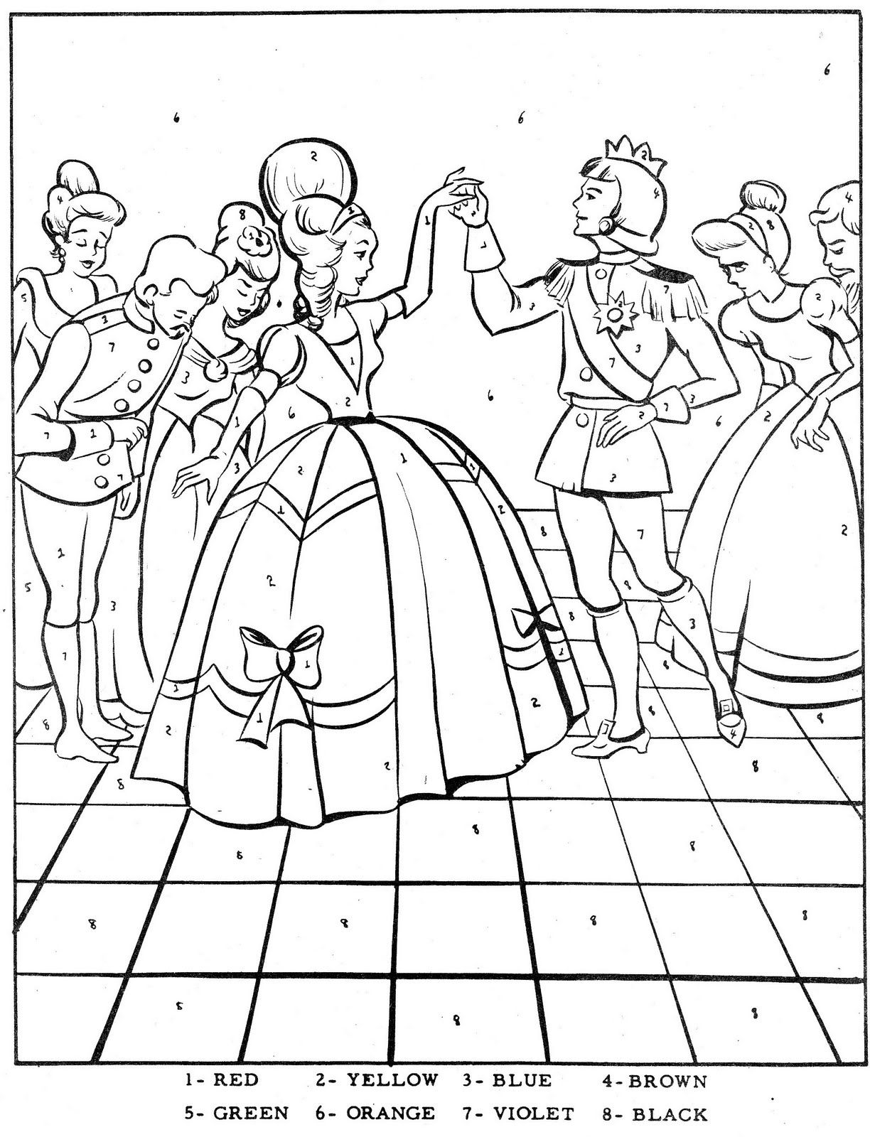 ava coloring pages | Color By Number-Cinderella | Cinderella coloring pages ...
