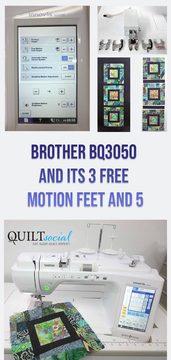 Brother Bq3050 And Its 3 Free Motion Feet In 2020 Crumb Quilt Free Motion Quilting Quilting Projects