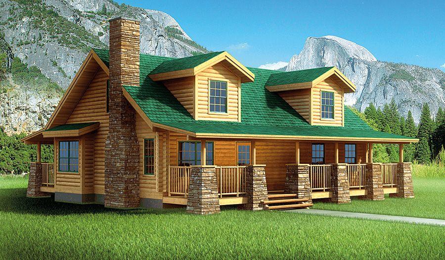 Englewood Log Home 2035 Sf 4 Bedrooms 3 1 2 Bath Log Home Floor Plans Log Cabin Homes Log Homes Exterior