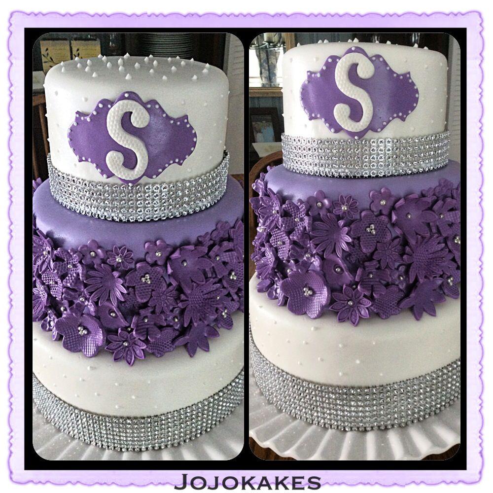 50 Th Birthday Cake Flowers Bling