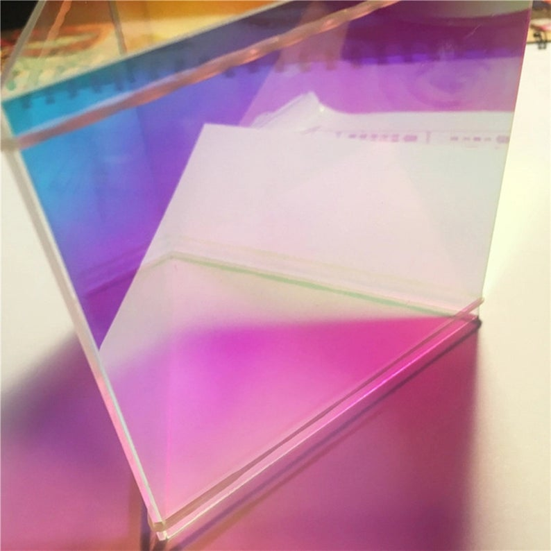 Acrylic Ab Plexiglass Sheetpmma Iridescent Radiant Sheet Etsy In 2020 Plexiglass Sheets Frosted Acrylic Sheet Plexiglass